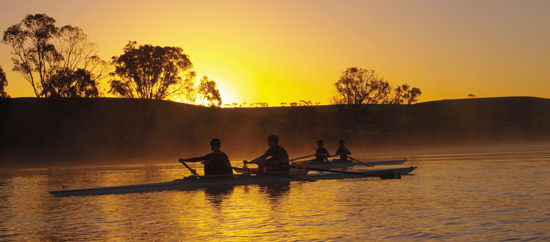 Image of crew rowing